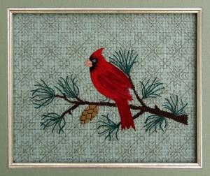 Cardinal and Pine
